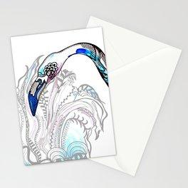 Blue Flamingo Illustration Stationery Cards