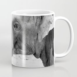 Portrait of cute elephants cuddling Coffee Mug