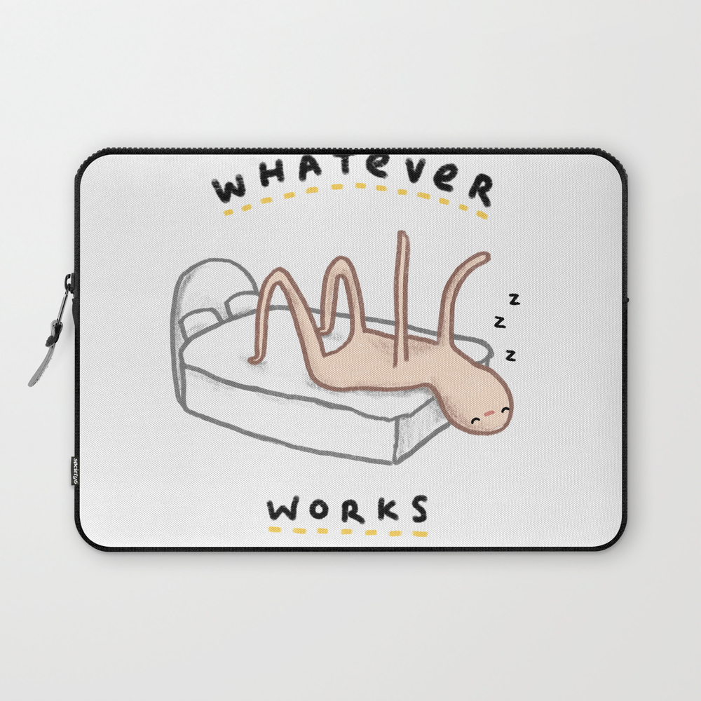 Honest Blob - Whatever Works Laptop Sleeve