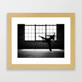 Ballet Dancer Silhouette Framed Art Print
