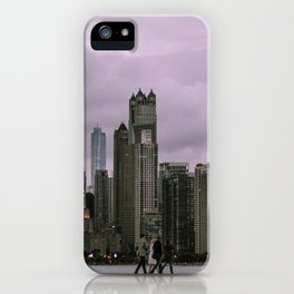 Purple Chicago Evening iPhone Case