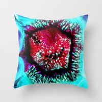 pop art Throw Pillows featuring pop by haroulita