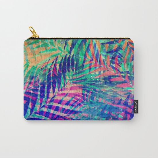 Colorful abstract palm leaves 2 Carry-All Pouch