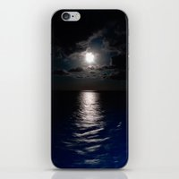 moonrise iPhone & iPod Skins featuring Moonrise by Craig Treadwell