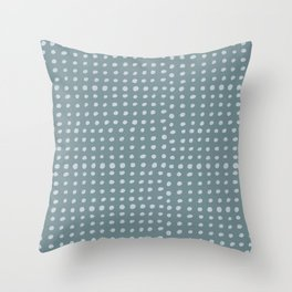 Slate x Dots Throw Pillow