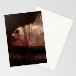 Rabid fish water horror strange creature concept art dark digital illustration painting Stationery Cards