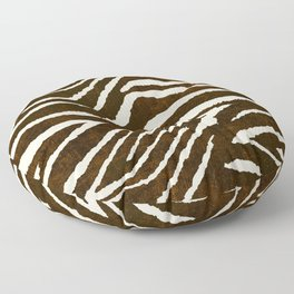 Animal Print Zebra in Winter Brown and Beige Floor Pillow