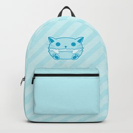Blue Kawaii Cat Macaroon Backpack