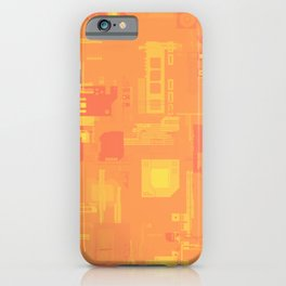 Random Shaped in Orange and Yellow iPhone Case