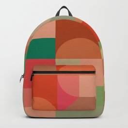 Red geometrical composition Backpack