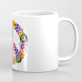 Peace Sign of Flowers Coffee Mug