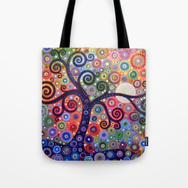 Abstract Art Landscape Original Painting ... The Coming Day Tote Bag