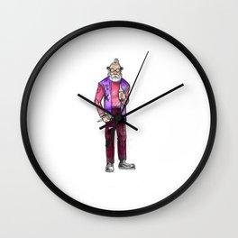 Pretty in punk Wall Clock