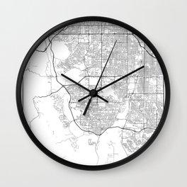 Minimal City Maps - Map Of Lakewood, Colorado, United States Wall Clock