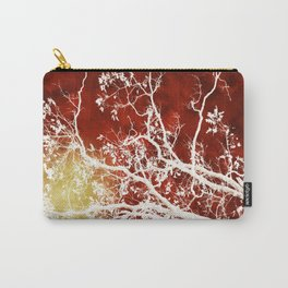 Burgundy Tree Art Carry-All Pouch