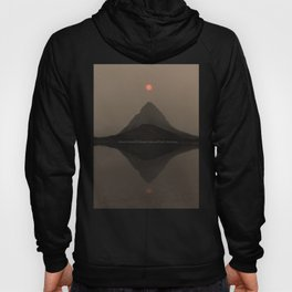 Sunset Over Mount Grinnell and Swiftcurrent Lake. Hoody