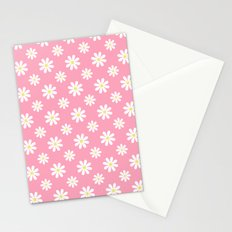 Daisies on Pink Stationery Cards