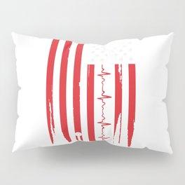 Er Nurse American Flag V Pillow Sham