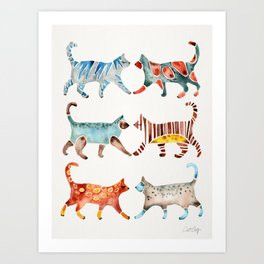 Cat Collection: Watercolor Art Print