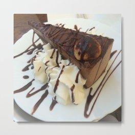 Chocolate Torte Metal Print