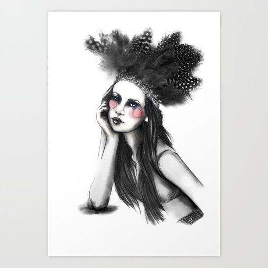 Show Girl Art Print