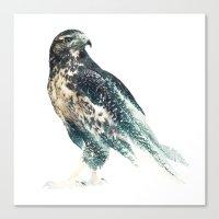 millenium falcon Canvas Prints featuring Falcon by RIZA PEKER