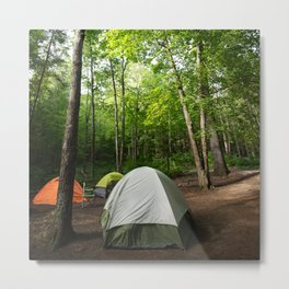 Adventure Is Calling | Travel Photography | Camping | Forrest Metal Print