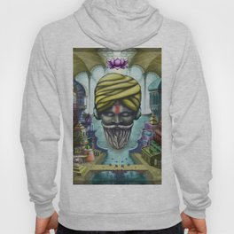 Young Sadhu Listening Ambient Sounds Hoody