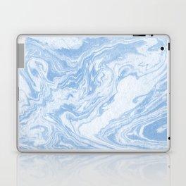 Ryoko - spilled ink abstract painting marble marbled paper art minimal swirl modern water ocean wave Laptop & iPad Skin
