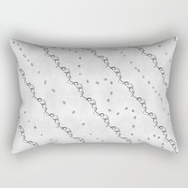 White Ribbon Rectangular Pillow