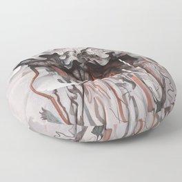 The Unfurling Dreamer Floor Pillow