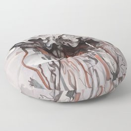 The Unfurling Dreamer Floor Pillow