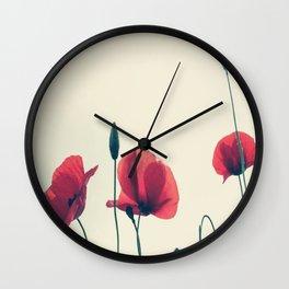 loose poppies Wall Clock