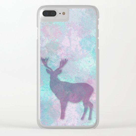 Deer Silhouette Clear iPhone Case