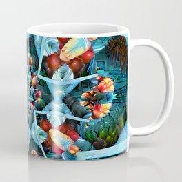 Fractal Art - Floral Spiral Coffee Mug
