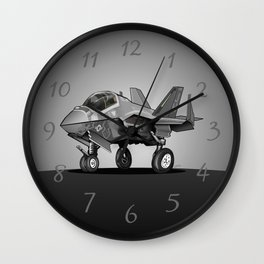 F-35C Lightning II Joint Strike Fighter Cartoon Wall Clock