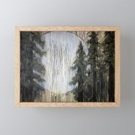 Moonlight through the Redwoods Framed Mini Art Print