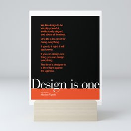 Design is One — Honoring Massimo Vignelli Mini Art Print