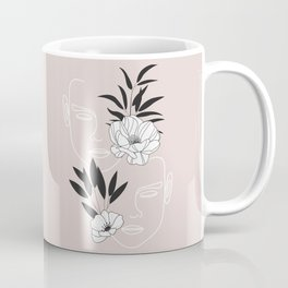 Two Faces Floral Coffee Mug
