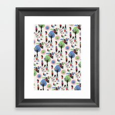 Beautiful day pattern Framed Art Print