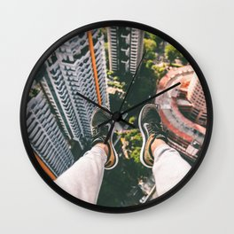 view high above top 5 Wall Clock