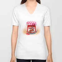 fig V-neck T-shirts featuring FIG JAM by Vin Zzep