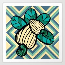 Geometric Cashew Pattern 2 Art Print
