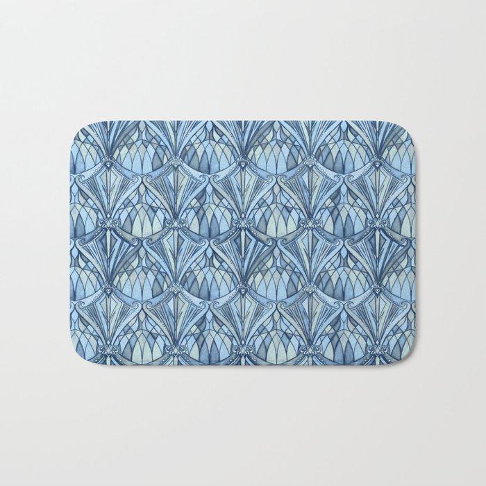 View From a Blue Window Bath Mat