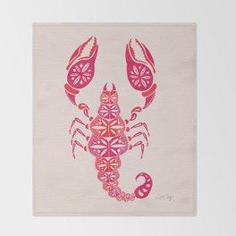 Pink Scorpion Throw Blanket