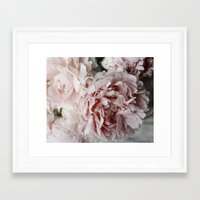 peonies Framed Art Prints featuring Peonies  by Pure Nature Photos