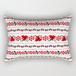 Ethno Ukrainian Pattern - Grape Guelder rose Oak - Symbol Rectangular Pillow
