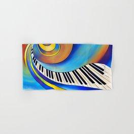 Redemessia - spiral piano Hand & Bath Towel