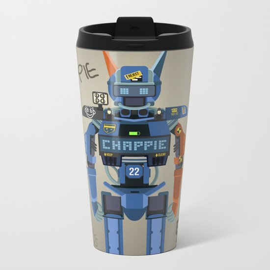 Chappie vector fanart Metal Travel Mug