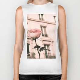 Paris in Blush Pink II Biker Tank